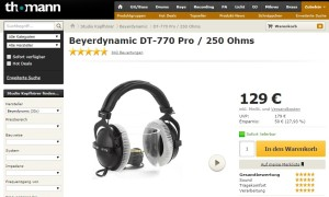Beyerdynamic DT-770 Pro / 250 Ohms