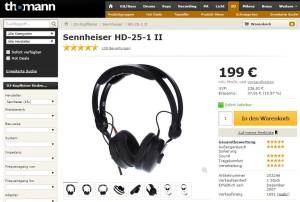 Sennheiser HD-25-1 II